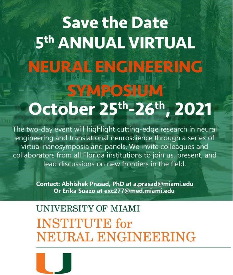 5th Annual VIRTUAL Neural Engineering Symposium