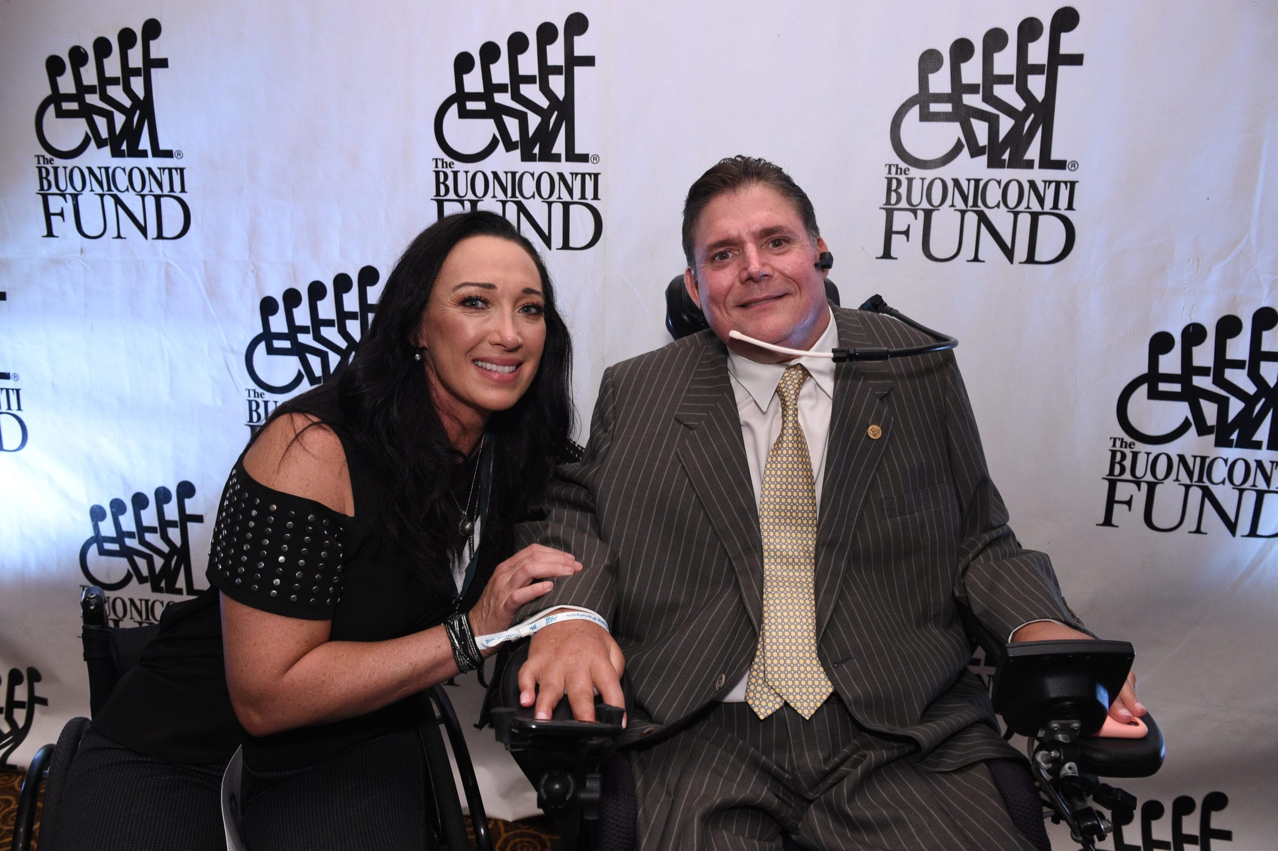 Amy Van Dyken-Rouen with Marc Buoniconti