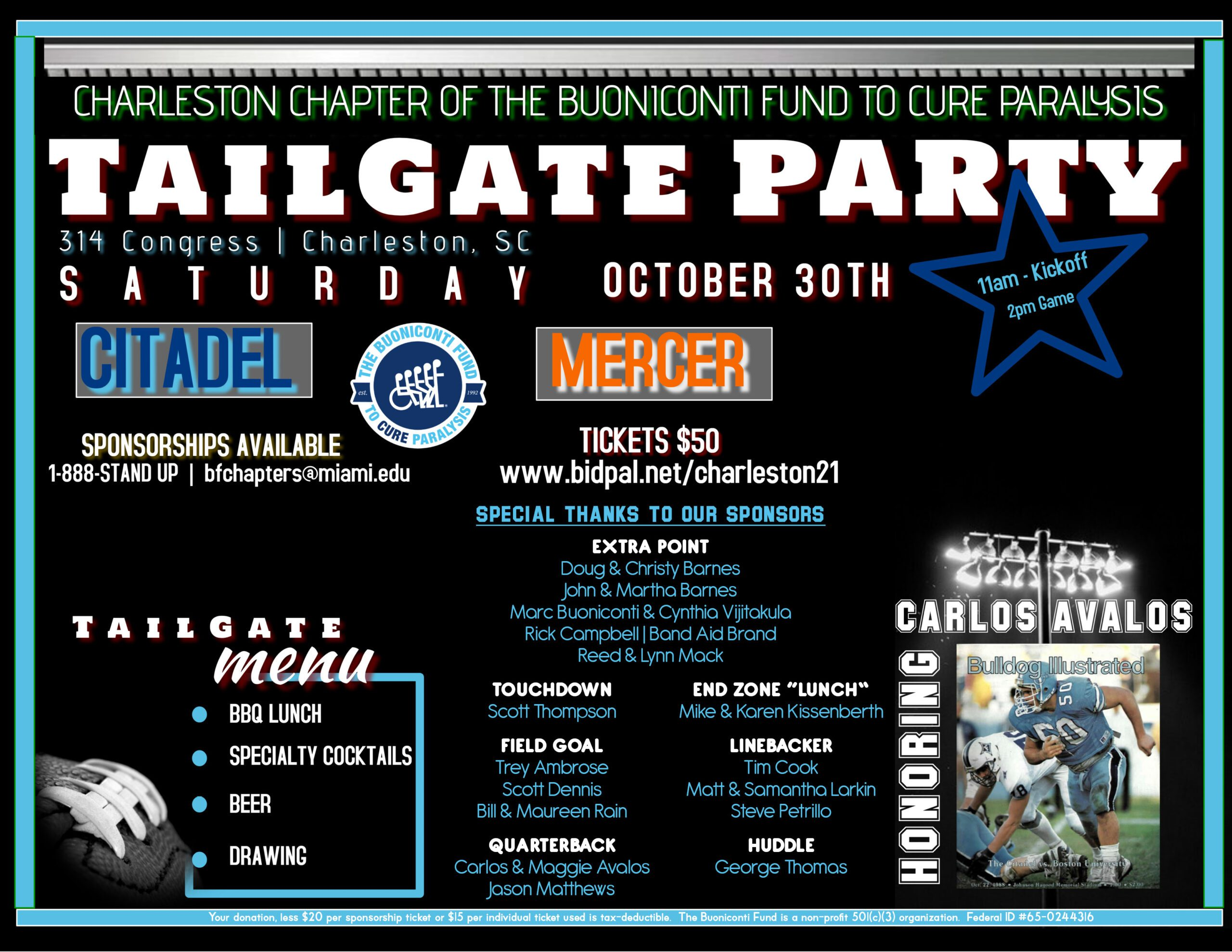 13th Annual Charleston Tailgate Party