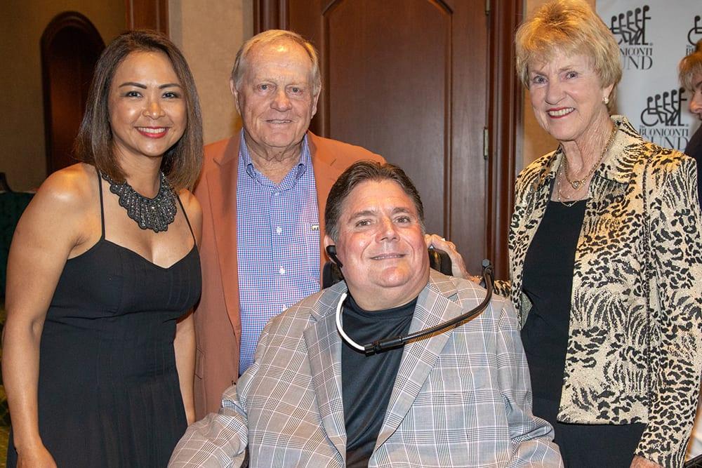 Cynthia Vijitakula and Marc Buoniconti with Jack and Barbara Nicklaus