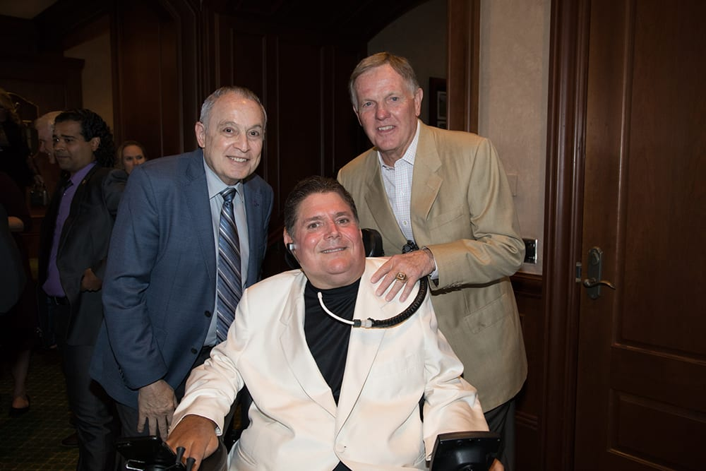 Dr. Barth Green and Bob Griese with Marc Buoniconti