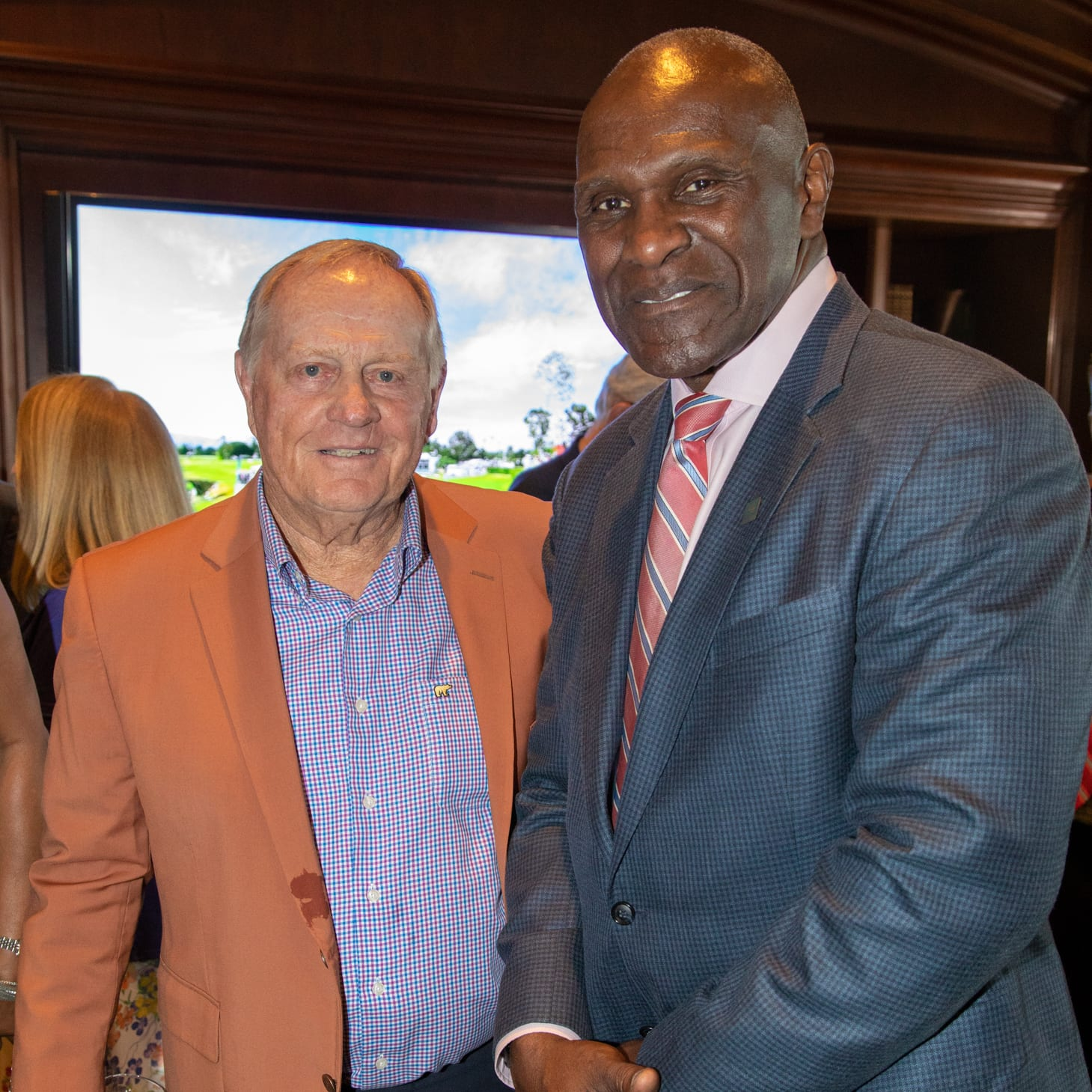 Jack Nicklaus and Harry Carson