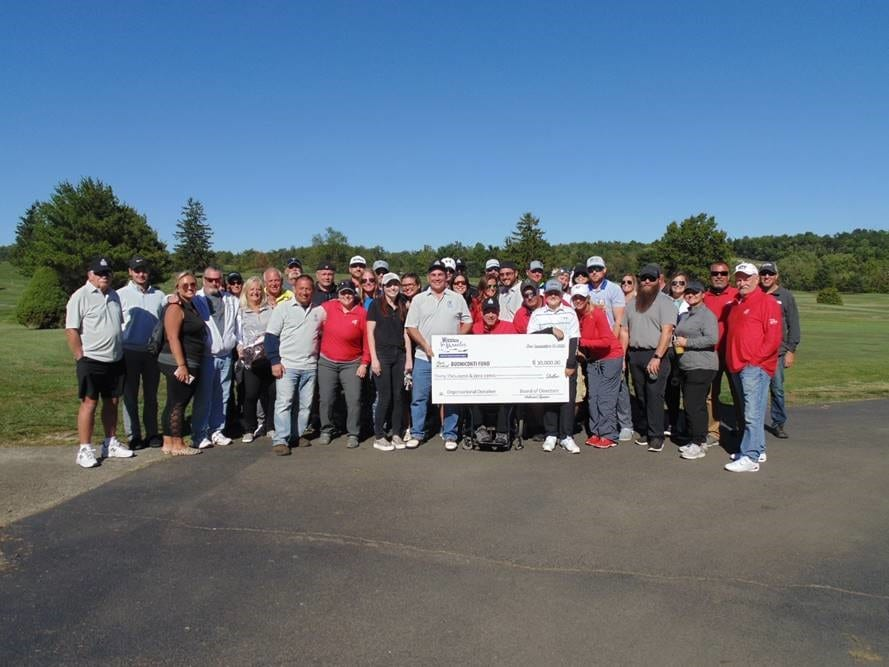 Mission for Miracles presents check to Jimmy Hoy and Committee at Pittsburgh Golf