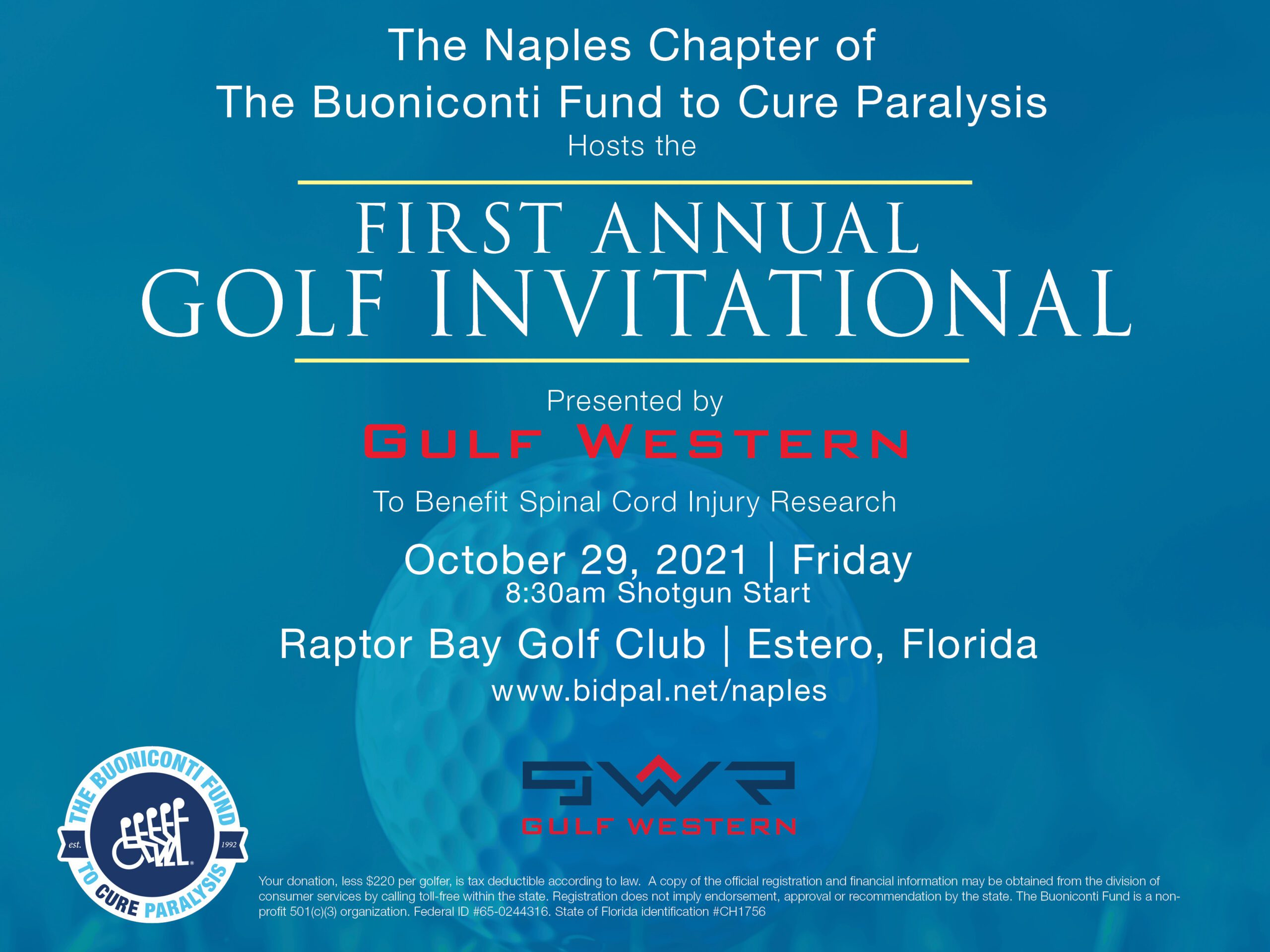 Naples Chapter First Annual Golf Invitational presented by Gulf Western