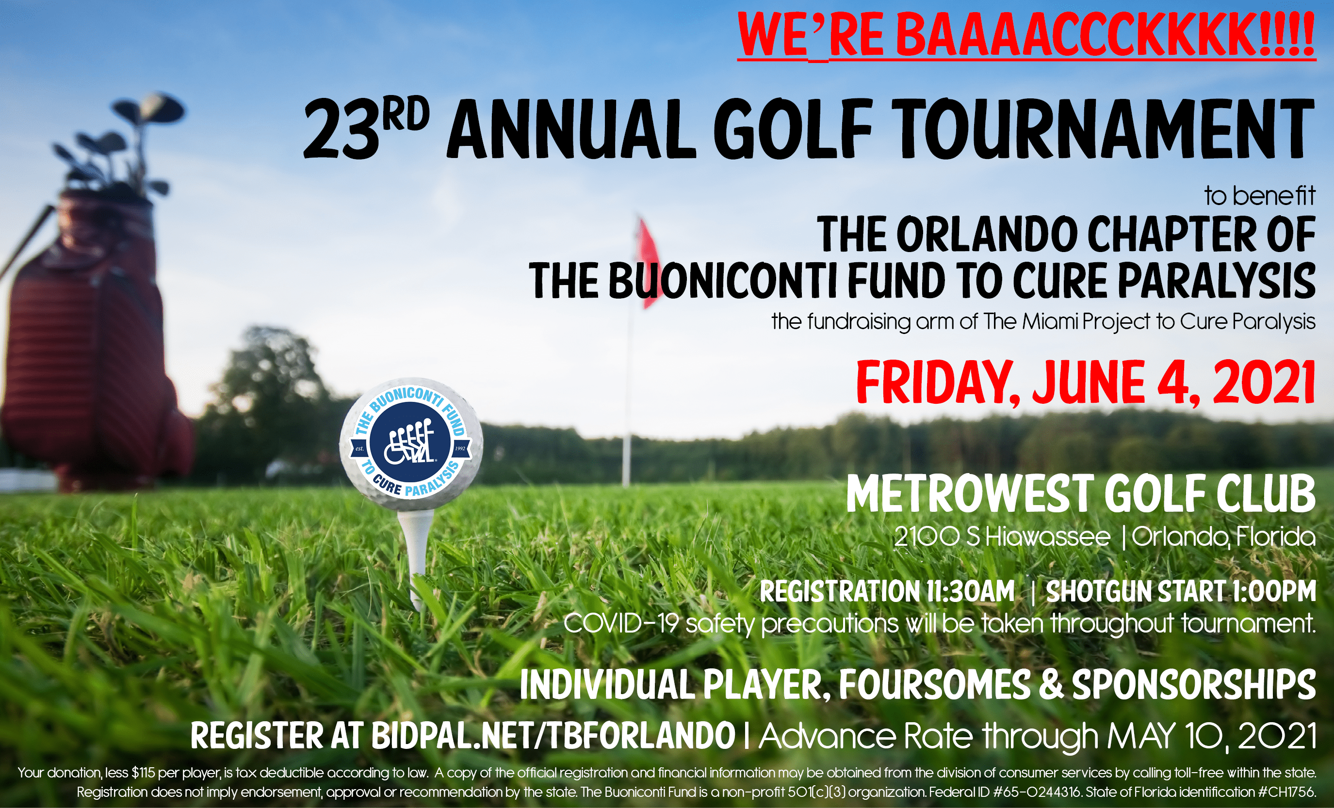 23rd Annual Orlando Chapter Golf Tournament