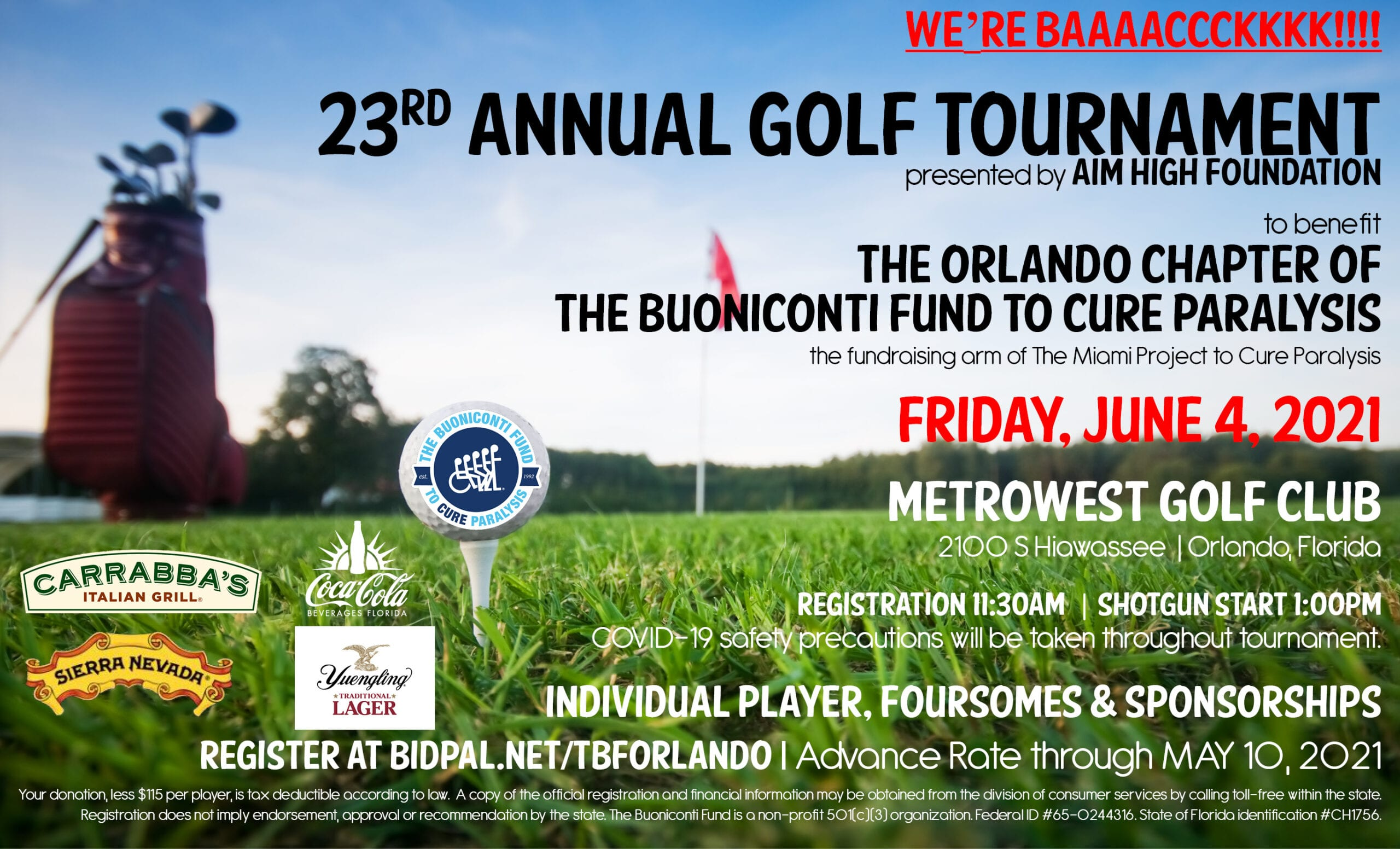 23rd Annual Orlando Chapter Golf Tournament presented by AIM High Foundation