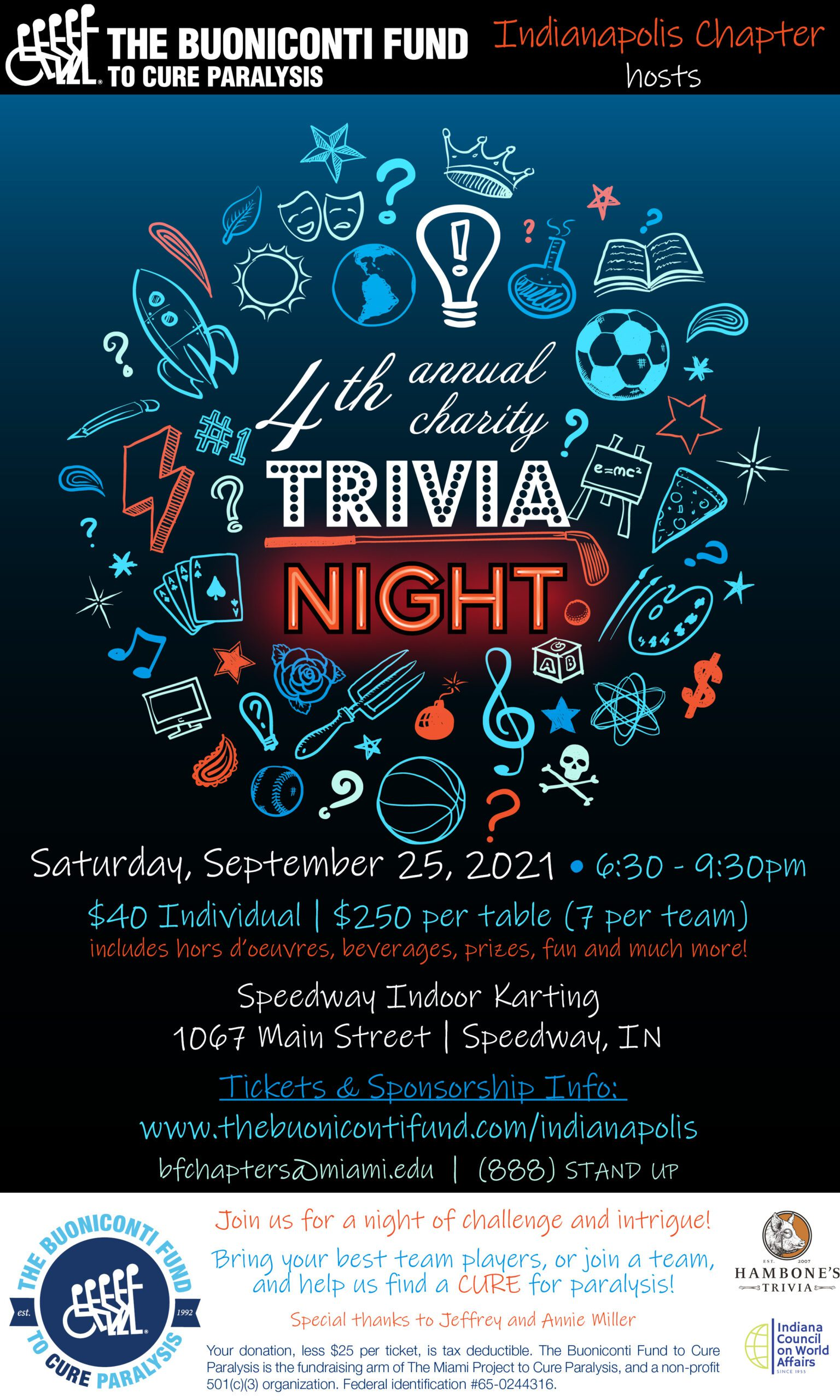 4th Annual Indianapolis Chapter Charity Trivia Night