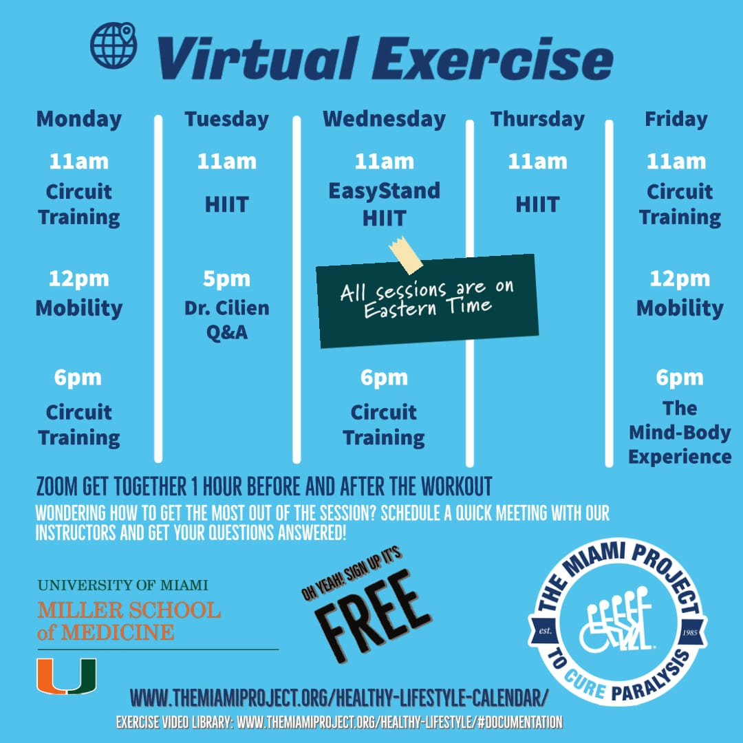 Virtual Exercise Schedule